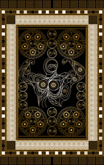 Graphical illustration of a Tarot card 12