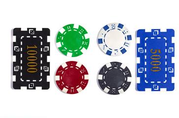 Rectangular Casino Chips