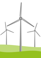 Landschaft Windkraft
