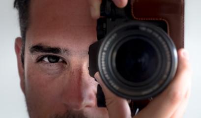 photographer eye contact camera viewfinder