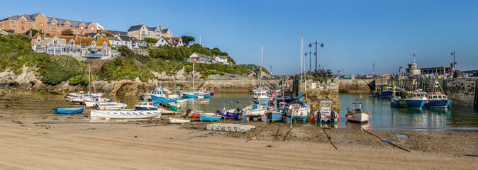 Newquay Harbour Fishing Boats