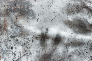Silvery old metal wallpaper, lead or steel texture