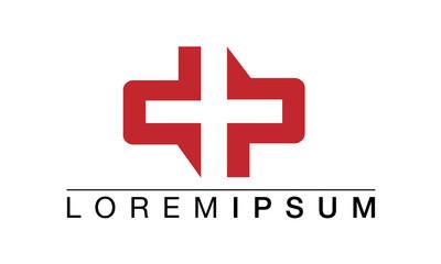 Red Cross Logo Design Vector