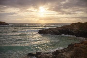 Sunset at Treyarnon Bay, Cornwall, England