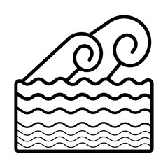 Waves icon. Sea flowing