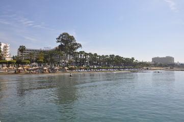 The beautiful St Raphael Beach Limassol in Cyprus