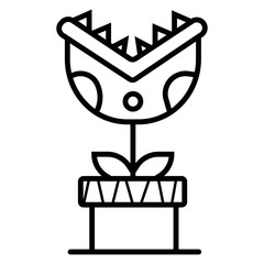 Carnivorous plant icon vector illustration - fototapety na wymiar