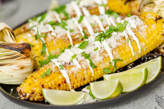 Grilling mexican street corn