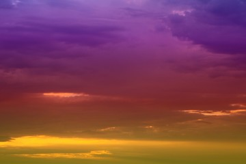 amazing toned sunset or sunrise clouds in the sky for using in design as background.
