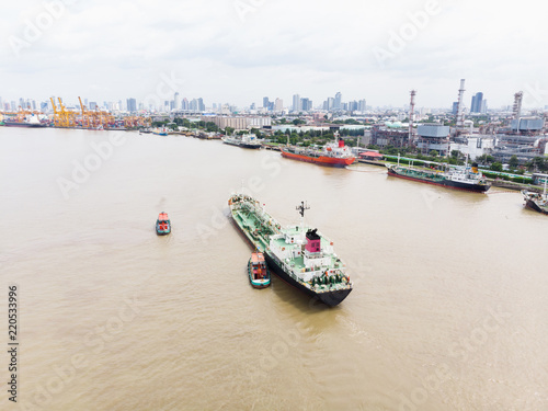 Sea freight, Crude oil tanker lpg ngv at Bangkok Port Thailand / Oil