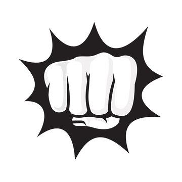 Hand Fist, Fist Bump Logo Vector