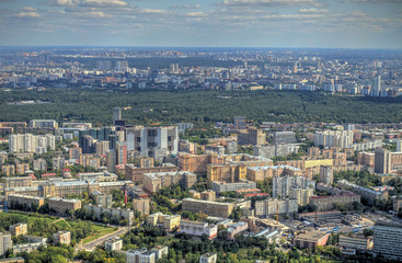 Moscow cityscape from above