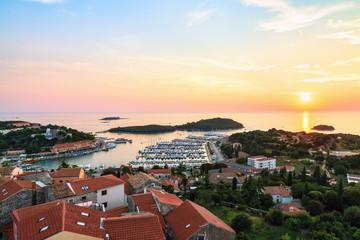 Aerial view to town of Vrsar, Croatia