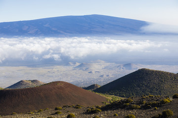 Breathtaking view of Mauna Loa volcano on the Big Island of Hawaii. The largest subaerial volcano in both mass and volume, Mauna Loa has been considered the largest volcano on Earth.