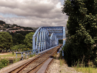 The Pontedeume train bridge