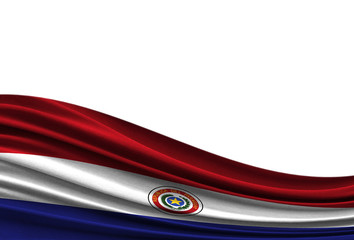 flag of Paraguay isolated on white background