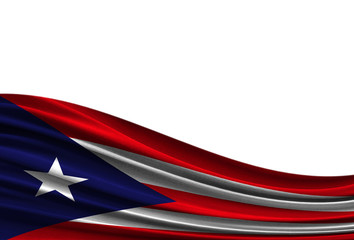 flag of Puerto Rico isolated on white background