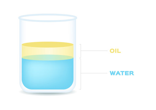 water and oil vector