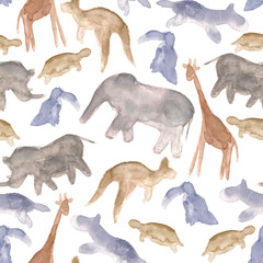 Animals abstract seamless background