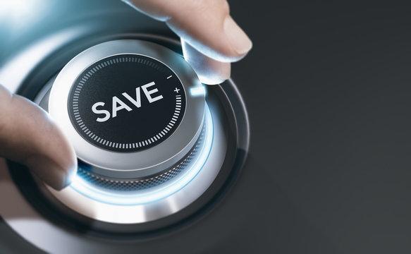 Saving Money Concept, Financial Expert Background