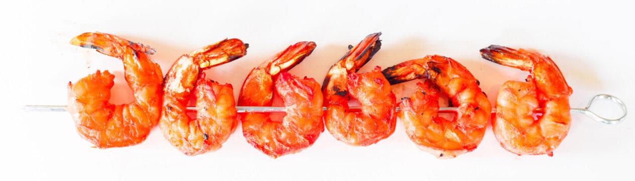tandoori shrimp on skewer