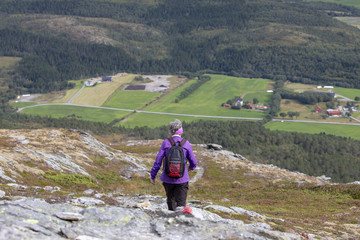 Walk in mountain