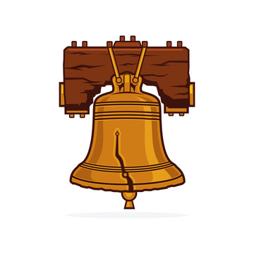 america, american, antique, art, bell, colonial, crack, declaration, design, drawing, element, freedom, graphic, historic, historical, history, holiday, icon, illustration, independence, isolated, lan