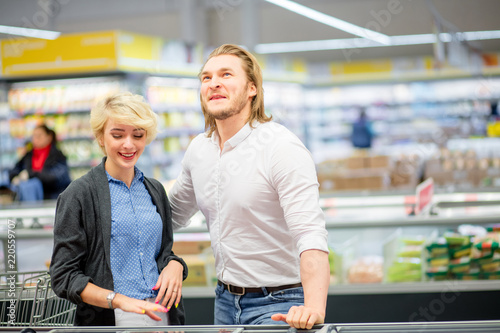 Sale Consumerism And People Concept Happy Couple With