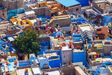 Jodhpur (Die blaue Stadt). Indien