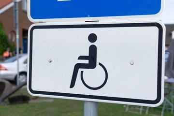 Disabled roadsign