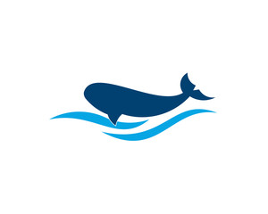 whale fish concept design in vector format.