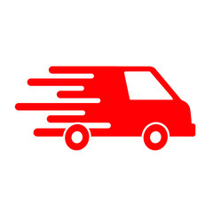 Fast shipping delivery truck, shipping service – vector