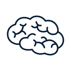 Human brain icon sign - stock vector