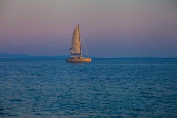 Beautiful catamaran sailing