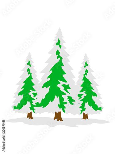 3 Baume Weiss Grun Weihnachtsbaum Weihnachten Nikolaus Winter