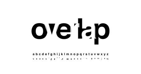 modern alphabet font overlap style. calligraphy designs for logo, Poster, Invitation, etc. Typography font lowercase. vector illustrator