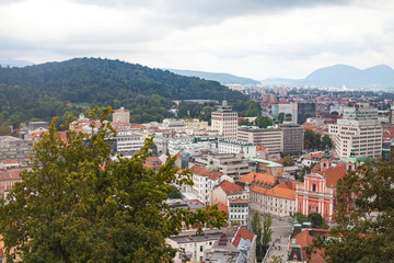 Panorama of Ljubljana, rooftops
