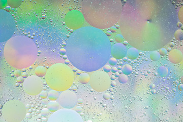 Circle Oil & Water  Abstract Colorful  Macro Background