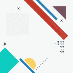 Modern abstract geometric background in minimalistic style. Vector flat cover with elements for design