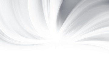 White  waves background. Abstract grey modern design.