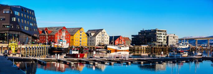 Deurstickers Noord Europa Tromso in Northern Norway