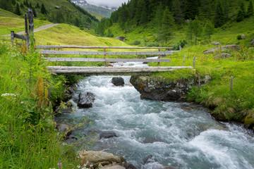 Von Kasern zur Kehreralm 2018-13   Holzbrücke über die Ahr Ahrntal Südtirol