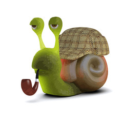 Vector 3d Sherlock Snail