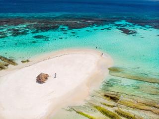 Fototapete - Top view of Caribbean island