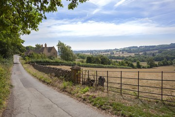 Maugersbury village near Stow-on-the-Wold, Gloucestershire, England