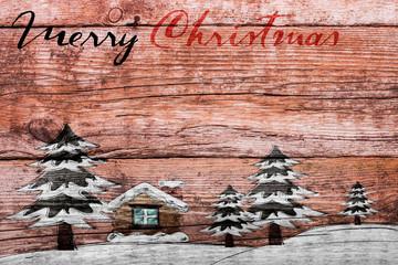 Holzbrett weihnachlich bemalt Weihnachten