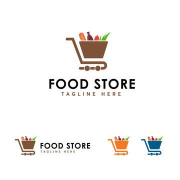 Food Store logo designs concept vector, Store logo template