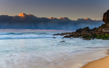 Sunrise Seascape and Cloud Bank