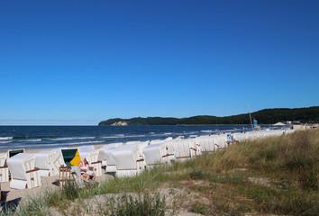 Beach on the holiday island Rügen - Ostseebad Binz, Rügen, Germany