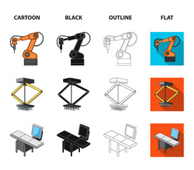 Automotive industry and other web icon in cartoon,black,outline,flat style.New technologies icons in set collection.